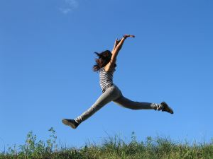 Jumping Joy by lusi on RGBstock.com